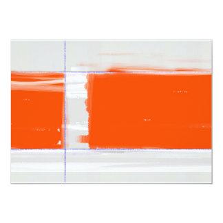 Naranja abstracto invitación 12,7 x 17,8 cm