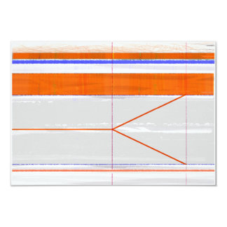 Naranja abstracto y blanco invitación 8,9 x 12,7 cm