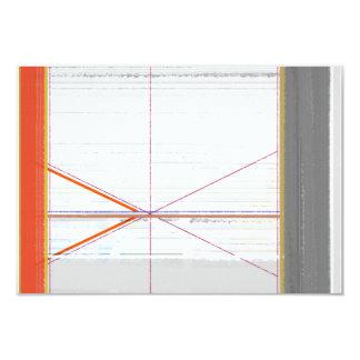 Naranja abstracto y gris invitación 8,9 x 12,7 cm