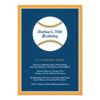 Naranja azul de las invitaciones el | del invitación 12,7 x 17,8 cm
