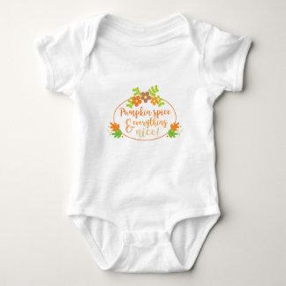 Naranja bonito y verde de la especia de la body para bebé
