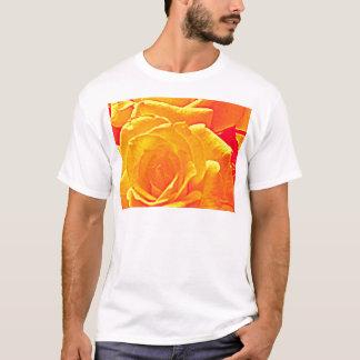 naranja color de rosa fluorescente camiseta