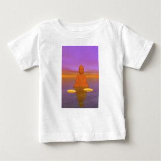 naranja de Buda y amarillo de los pasos Camiseta De Bebé