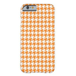 Naranja de cadmio Houndstooth Funda De iPhone 6 Barely There