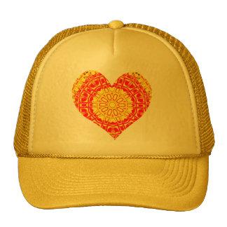 Naranja de cristal del mosaico del efecto/amarillo gorras de camionero