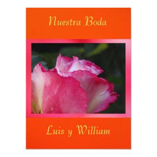 Naranja de Invitación - de Nuestra Boda - de Rosa