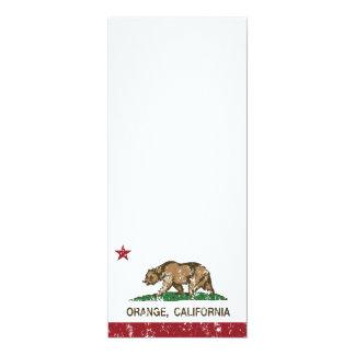 naranja de la bandera de California apenado Invitacion Personalizada