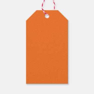 Naranja de la mandarina etiquetas para regalos