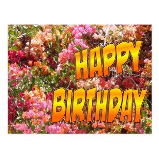 Naranja de la postal del cumpleaños del