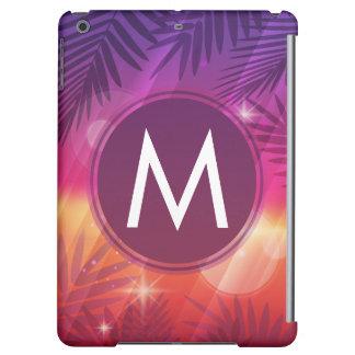 Naranja de la púrpura del monograma de las