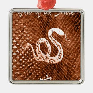 Naranja del Año Nuevo de chino de la piel de serpi Ornamentos De Navidad