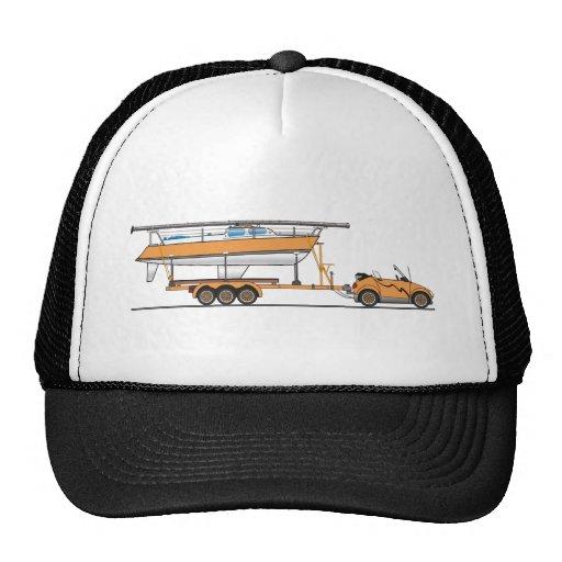Naranja del barco de vela del coche de Eco Gorras