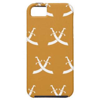Naranja del blanco de las espadas iPhone 5 cárcasa