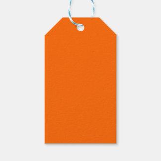 Naranja del color del Web del código del maleficio Etiquetas Para Regalos