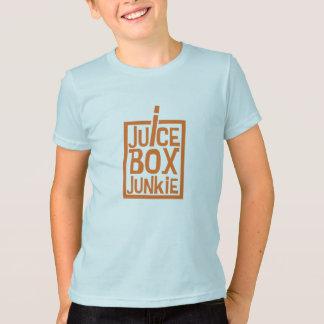 Naranja del drogadicto de la caja del jugo camiseta