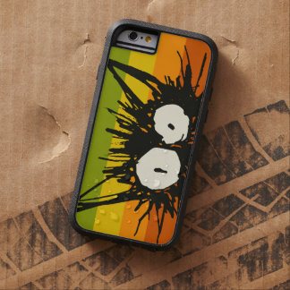 Naranja del gato del susto colorido funda tough xtreme iPhone 6
