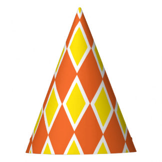 Naranja del Harlequin y gorra del fiesta del
