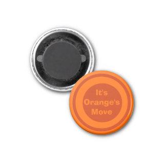 Naranja del marcador del ~TAG~ de los inspectores  Imán Redondo 3 Cm