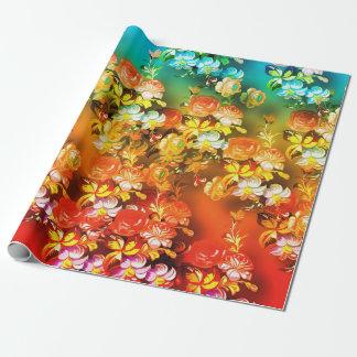 Naranja del trullo y papel de embalaje abstracto