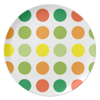 Naranja del verde amarillo de la placa de la plato