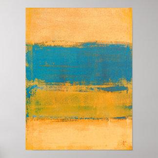 """Naranja """"delantero"""" rápido y arte abstracto azul"""