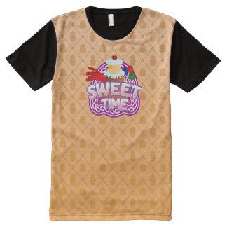 Naranja dulce del tiempo toda la camiseta impresa