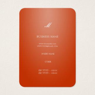 Naranja elegante fresco tarjeta de visita