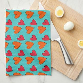 naranja enrrollado fabuloso de la diversión, rosa, paño de cocina