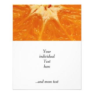 naranja folleto 11,4 x 14,2 cm