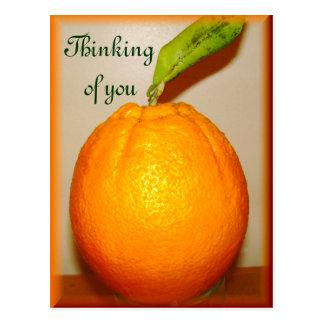 Naranja grande, pensando en you_ postal