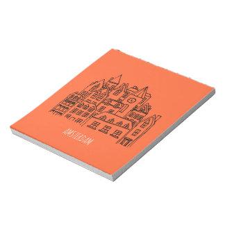 Naranja holandés del recuerdo de la ciudad de bloc de notas