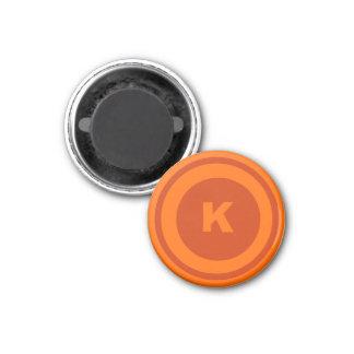 Naranja-Kinged del pedazo del ~TAG~ de los inspect Imán Redondo 3 Cm