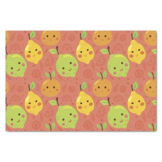 Naranja, limón y cal preciosos lindos del dibujo papel de seda