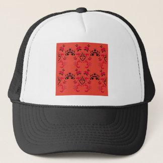 Naranja maravilloso del diseño de la gente gorra de camionero