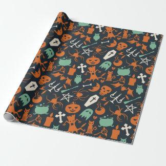 Naranja, modelo oscuro de los elementos de papel de regalo