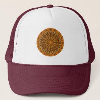 """Naranja, oro, y estaciones de Brown """": Mandala del Gorra De Camionero"""