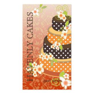 Naranja + Pastel de bodas/panadería/pâtisserie del Tarjeta De Visita
