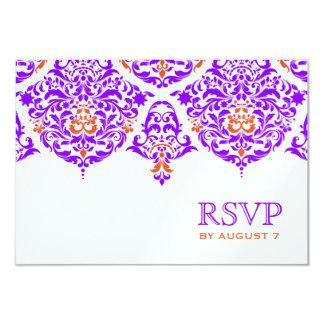Naranja púrpura fabuloso del damasco de 311 lunes invitación 8,9 x 12,7 cm