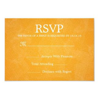 Naranja romántico elegante de RSVP que se casa Invitación 8,9 X 12,7 Cm
