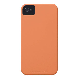 Naranja sólido iPhone 4 Case-Mate protector