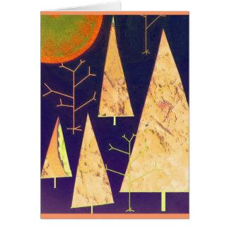 Naranja usted feliz estas vacaciones tarjeta de felicitación