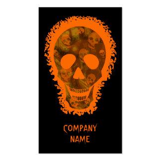 Naranja vertical anaranjado del cráneo grande tarjetas de visita