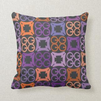 Naranja y almohada púrpura del símbolo de Adinkra