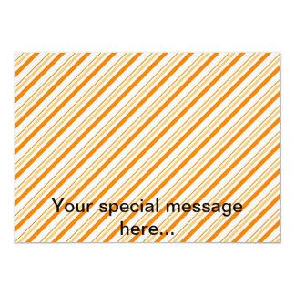Naranja y blanco rayados anuncio personalizado
