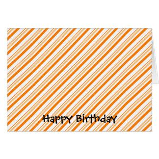 Naranja y blanco rayados felicitacion
