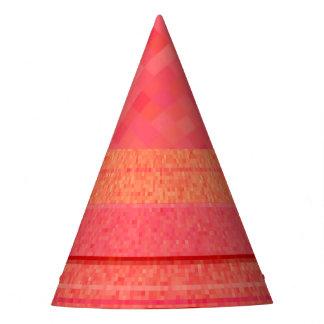 Naranja y modelo rojo de rubíes del bloque del gorro de fiesta