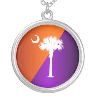 Naranja y púrpura de Carolina del Sur Colgante Redondo