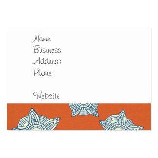 Naranja y regalos decorativos azules del modelo tarjetas de visita grandes