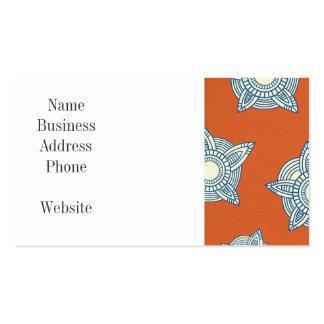 Naranja y regalos decorativos azules del modelo tarjetas de visita