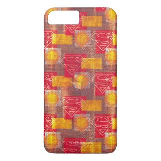 Naranja y rojo del escudo funda iPhone 7 plus